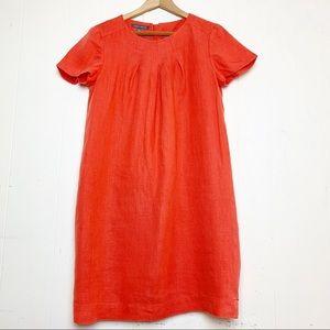 Laura Ashley Coral Linen Shift Dress